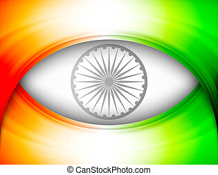 indian flag in wave stylish colorful vector illustration