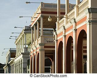 Colonial Buildings in Granada Nicaragua - Detail of Spanish...