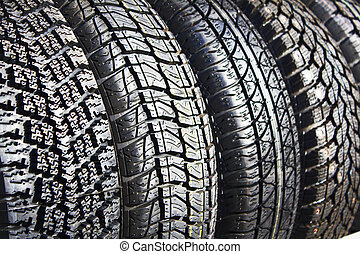 winter rubber - Collection of winter rubber as a background