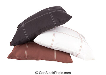 pillows - Three soft pillows isolated on white