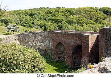 Bridge to the Hammershus - The bridge to the Hammershus on...