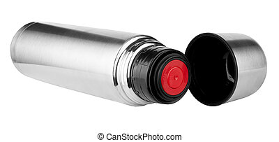 Thermos isolated on white, clipping path included