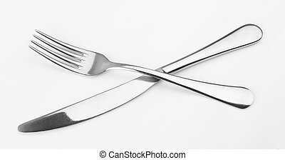 Crossed Fork And Knife Stock Photo Images 636 Crossed