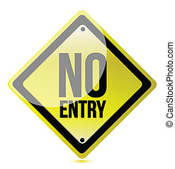 no entry sign illustration design