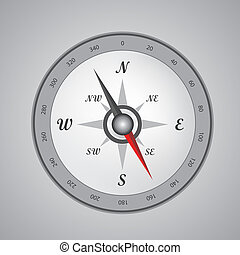 Compass - black Compass isolated on a white background