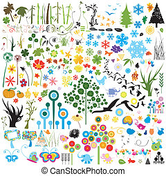 elements - collection of various nature elements