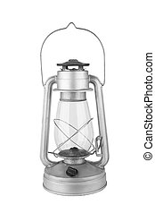 old kerosene lamp isolated on a white background