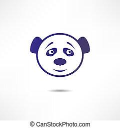 Smiling panda.