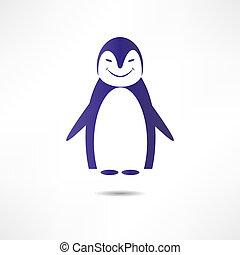 Cheerful penguin.