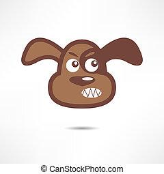 Angry dog.