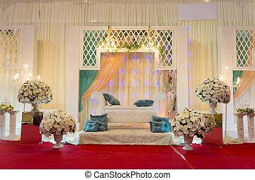 modern wedding stage garden style