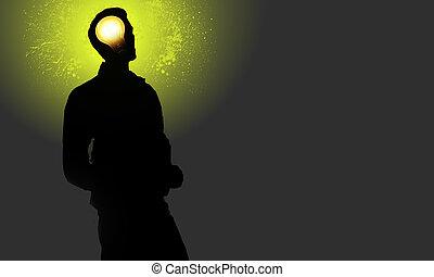 Id - Un homme brillant sur une image qui exprime son...