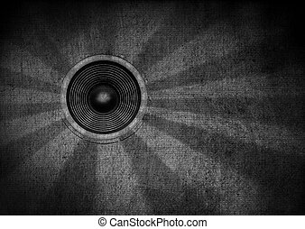 Black and white grunge starburst speaker - Monotone grunge...