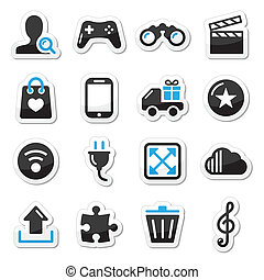 Web internet icons set - vector - Modern application website...