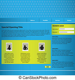 website design template with special design