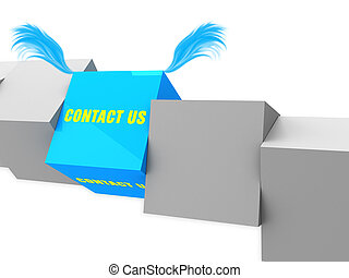 contact us on block