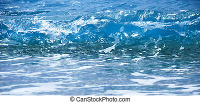 Blue sea  wave