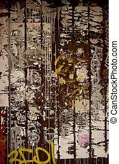 Graffiti on grunge background