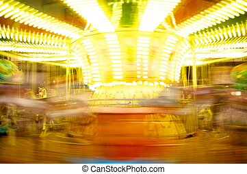 Merry-go-round in motion blur