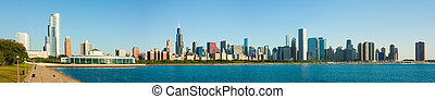Extended panorama of Chicago Skyline