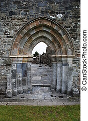 Entrance to Cathedral Ruins, Clonmacnoise, Ireland
