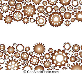 gear blank space - illustration of pattern seamless gear...