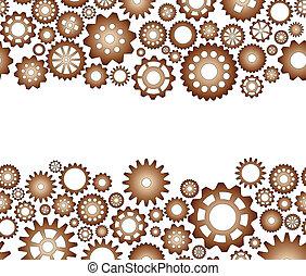 gear blank space - illustration of pattern seamless gear...