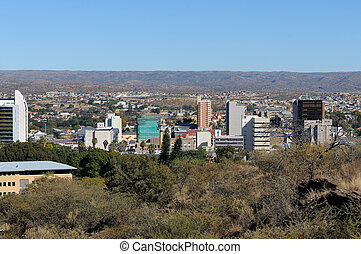 Windhoek cityscape - The city centre of Windhoek in Namibia