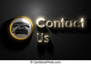 glow contact us on wall