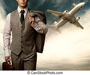 Businessman traveling concept