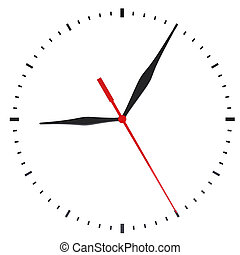 The clock and timestamp without numbers Isolated render on a...