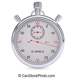 Stopwatch Isolated render on a white background