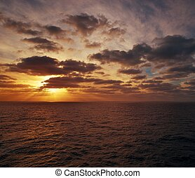 Ocean evening view.