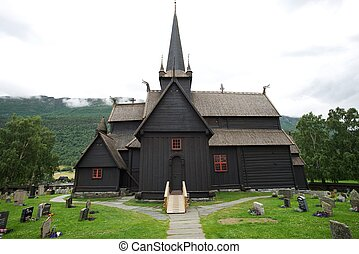 Stave church (Stavkirke) in Norway