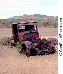 Old abandoned pickup truck