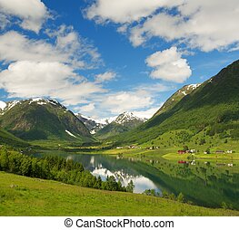 Lake in Norwegian mountains