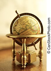 Close-up of a vintage globe
