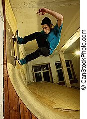 Skater performing a stunt