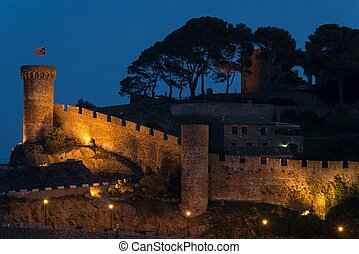 Vila Vella castle at Tossa de Mar, Spain
