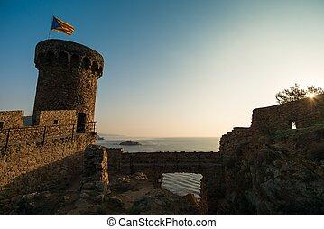Tower of Vila Vella fortress, Tossa de Mar