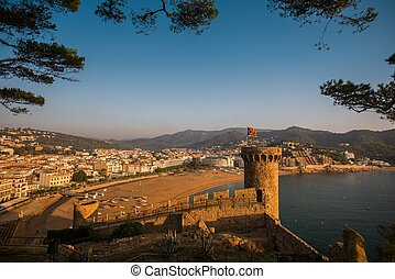 Vila Vella fortress in Tossa de Mar, Spain