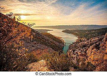 Beautiful view of Gorges du Verdon, France