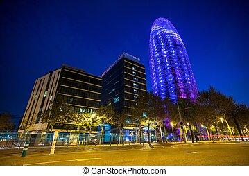 BARCELONA - NOVEMBER 24: Torre Agbar office building,...