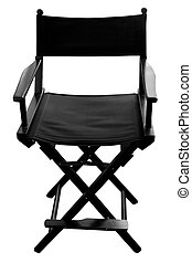 Black Folding Chair - Directors chair isolated on a white...
