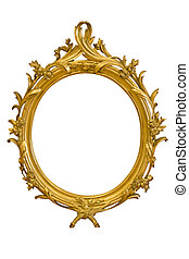 Ornamented Oval Picture Frame