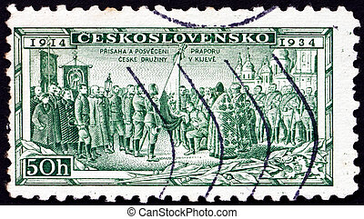 Postage stamp Czechoslovakia 1934 Consecration of Legion...