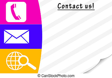 contact us card with blank space