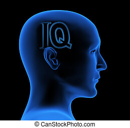 IQ - Conceptual image - an index of intelligence
