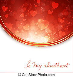 Valentine Day Frame With Hearts and Copyspace for Your Text