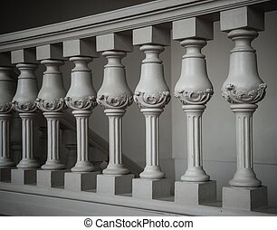 Handrail on stairway in palace
